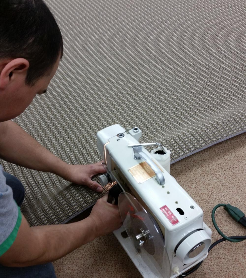 NJ carpet binding and serging