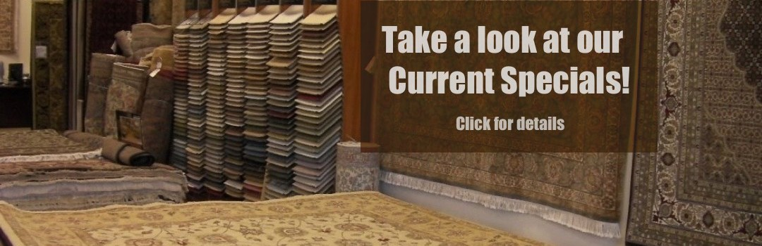 Rug and carpet specials